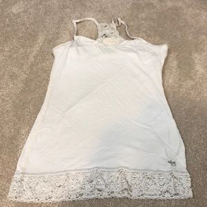Abercrombie & Fitch lace detail tank top